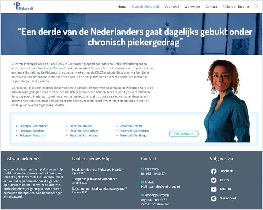 Nooitmeerpiekeren.nl - screenshot Piekerpoli.nl